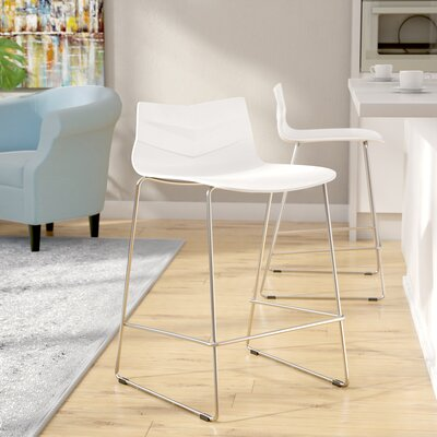 Crestwood 25 Bar Stool Finish: White