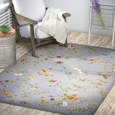 Ulysse Floral Indoor/Outdoor Area Rug Rug Size: Rectangle 53 x 77