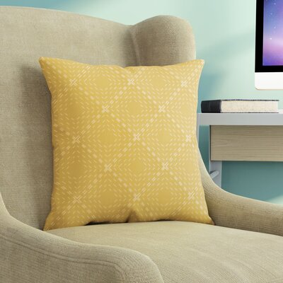 Shirley Throw Pillow Size: 16 H x 16 W x 3 D, Color: Yellow