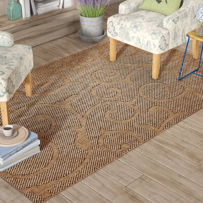 Pizano Light Brown Outdoor Area Rug Rug Size: Rectangle 5 x 8