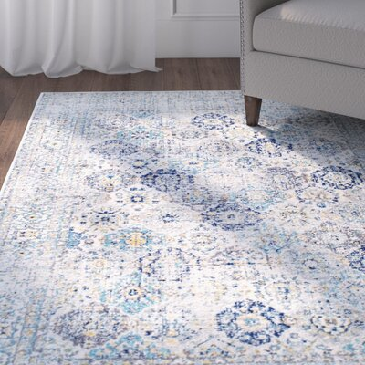 Obry Blue Area Rug Rug Size: Rectangle 5 x 75