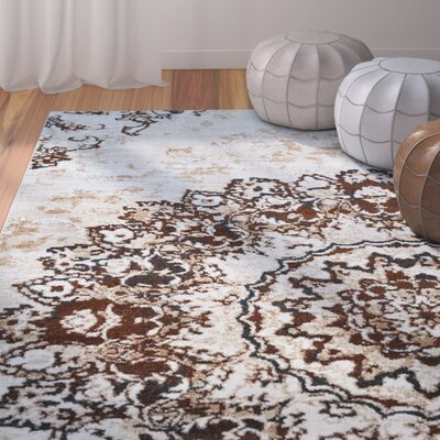 Nde Transitional Medallion Brown/Beige Area Rug Rug Size: 33 x 47