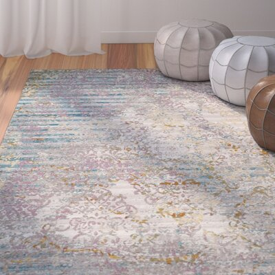 Andy Fuchsia/Ivory Area Rug Rug Size: Rectangle 4 x 6