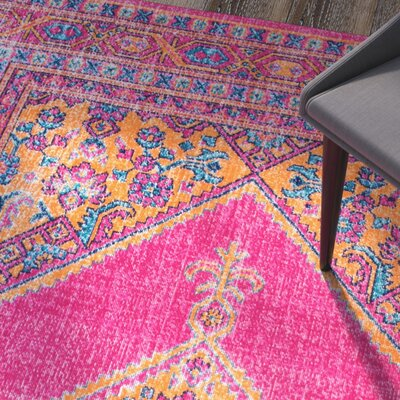 Oconnell Pink Area Rug Rug Size: 4 x 6