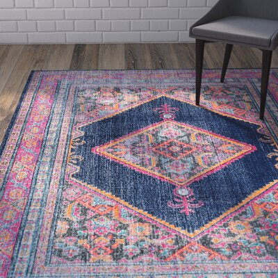 Alvord Navy Area Rug Rug Size: Rectangle 5 x 75