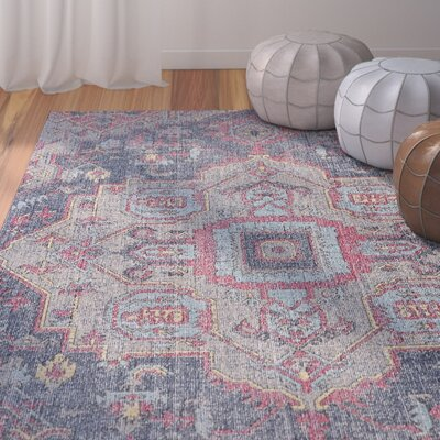 Schifflange Teal Area Rug Rug Size: Rectangle 5 x 8
