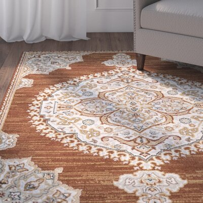 Lenora Burnt Orange Area Rug Rug Size: Rectangle 6'7