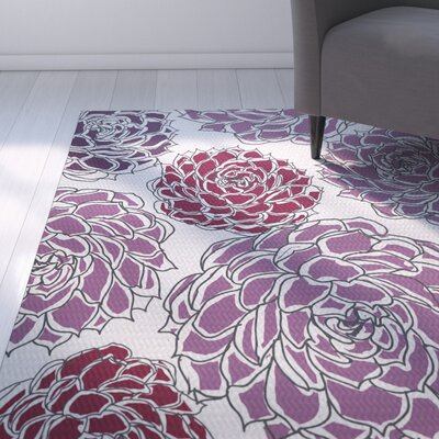 Neville Purple Indoor/Outdoor Area Rug Rug Size: Rectangle 3' x 5'