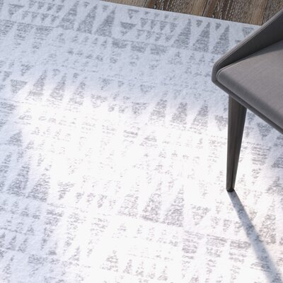 Pottorff Gray Area Rug Rug Size: Rectangle 5 x 75