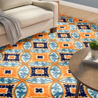 Dorinda Orange/Blue Indoor/Outdoor Area Rug Rug Size: Rectangle 7' 10