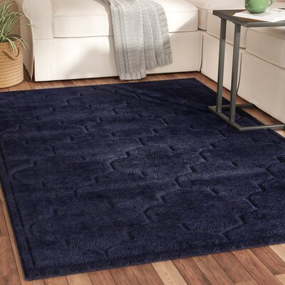 Millvale Navy Blue Area Rug Rug Size: Rectangle 4 x 6