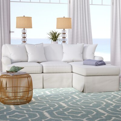 Coral Gables Reversible Sleeper Sectional Upholstery: Warm White
