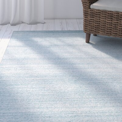 Kelbark Contemporary Hand-Woven Wool Blue Area Rug Rug Size: 5 x 8