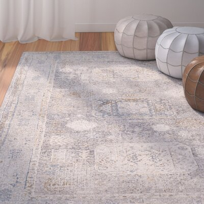 Jazzerus Charcoal Area Rug Rug Size: Rectangle 53 x 73