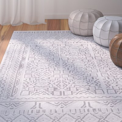 Svendborg Southwestern Gray Area Rug Rug Size: Rectangle 53 x 73