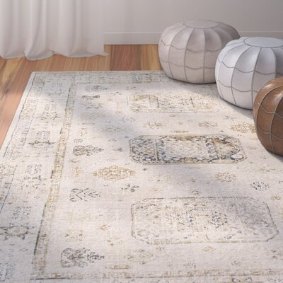 Jazzerus Beige Area Rug Rug Size: Rectangle 53 x 73