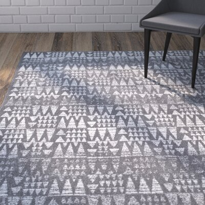 Potvin Dark Gray Area Rug Rug Size: Rectangle 8 x 10