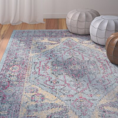 Schifflange Aqua Area Rug Rug Size: Rectangle 8 X 11