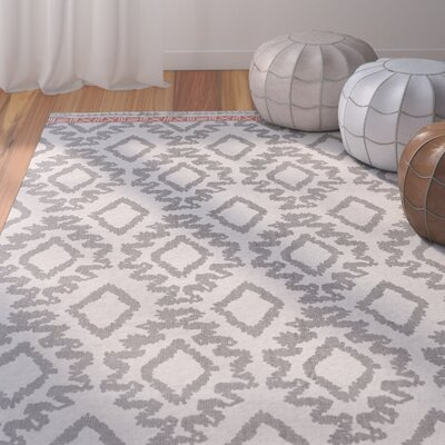Kopstal Hand Woven Gray/Orange Area Rug Rug Size: Rectangle 8' X 11'