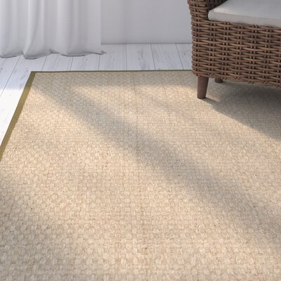 Greene Hand-Woven Beige Area Rug Rug Size: Rectangle 26 x 4