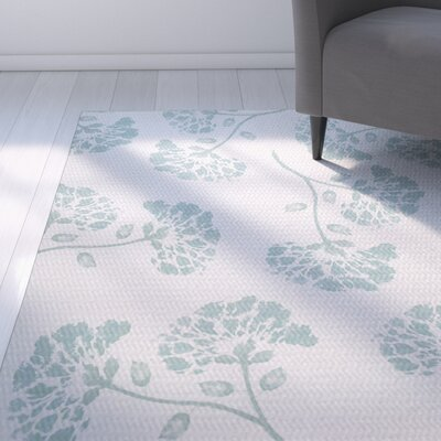 Neville Green Indoor/Outdoor Area Rug Rug Size: Rectangle 2' x 3'