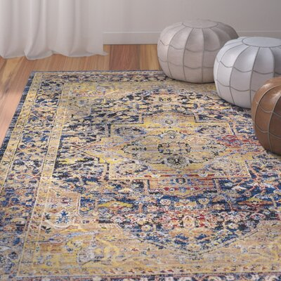 Walferdange Camel Area Rug Rug Size: Rectangle 93 x 121