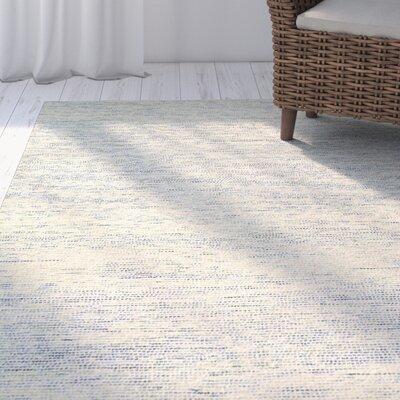 Dunbarton Pin Dot Hand-Hooked Wool Blue Area Rug Rug Size: 9 x 12