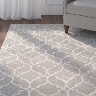 Dorothy Geometric Hand-Tufted Wool Gray Area Rug Rug Size: 5 x 8