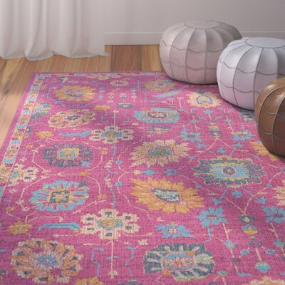 Dominick Modern Pink Area Rug Rug Size: Rectangle 710 x 103