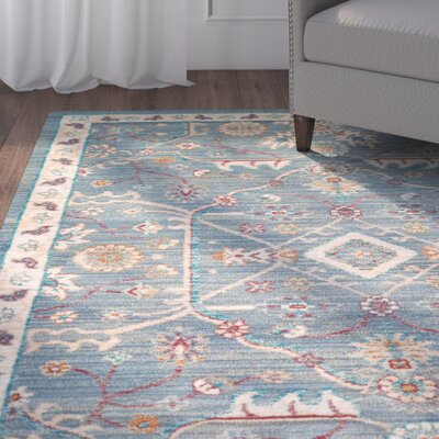 Jansson Blue/Gray Area Rug Rug Size: Rectangle 710 x 106