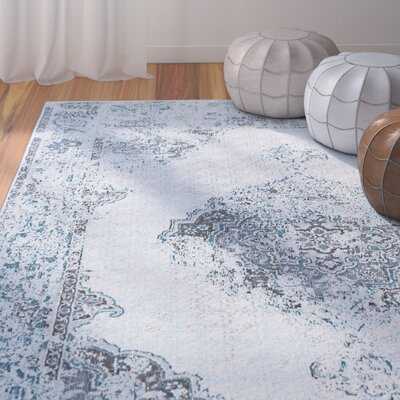 Dominick Transitional Gray Area Rug Rug Size: Rectangle 53 x 73