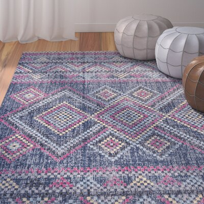 Schifflange Teal Area Rug Rug Size: Rectangle 8 X 11