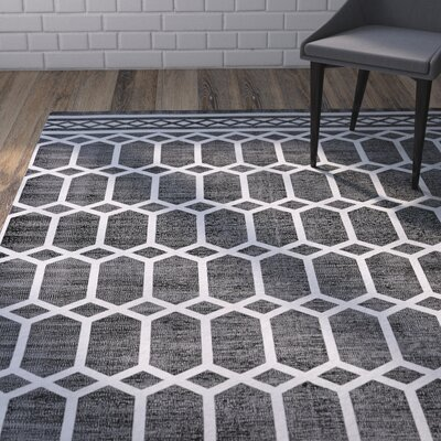 Paolucci Hand-Woven Noir Area Rug Rug Size: Rectangle 4 x 6