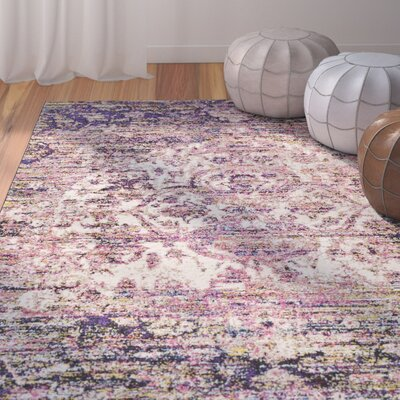 Walferdange Bright Pink Area Rug Rug Size: Rectangle 5 x 73