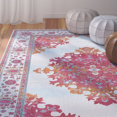 Dominick Blue/Pink Area Rug Rug Size: Rectangle 53 x 73