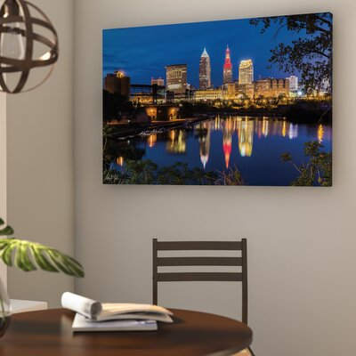 Cleveland River Reflection Photographic Print on Wrapped Canvas Size: 32