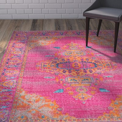 New City Pink Area Rug Rug Size: 4 x 6