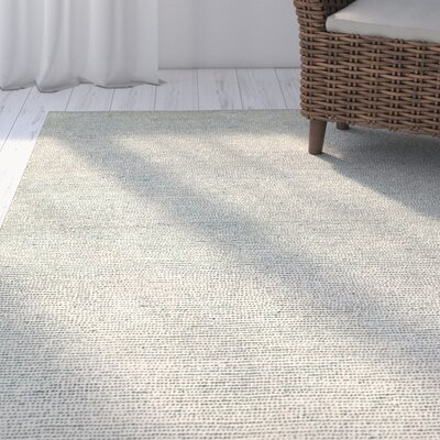 Dunbarton Pin Dot Hand-Hoked Wool Blue Area Rug Rug Size: 8 x 10