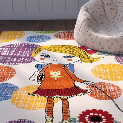 Luann Cream Girl Area Rug