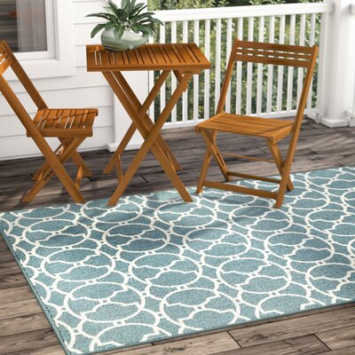 Baltimore Blue Indoor/Outdoor Area Rug Rug Size: Rectangle 311 x 57