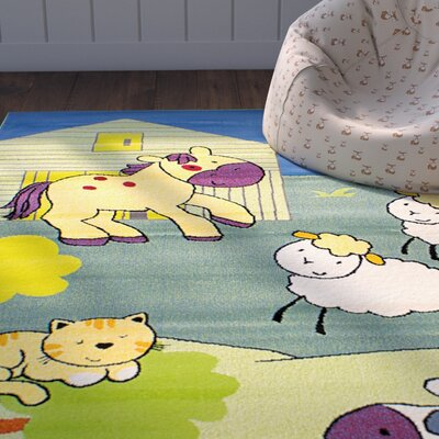 Luann Light Green Area Rug