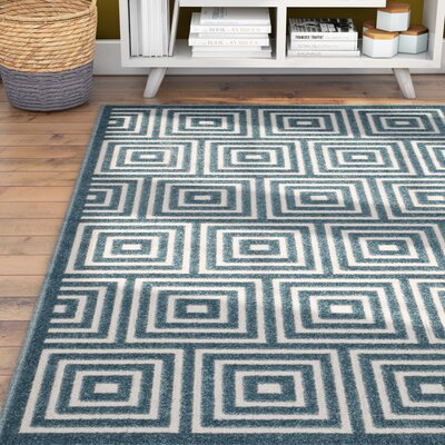 Candor Contemporary Blue Outdoor Area Rug Rug Size: Square 67