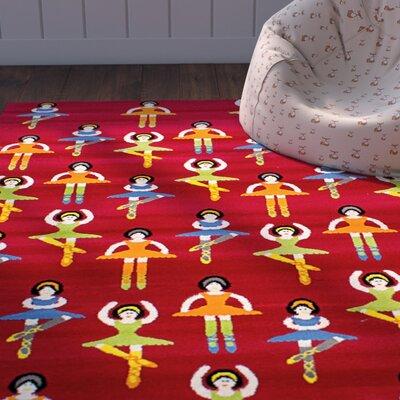 Luann Red Dancing Girls Area Rug
