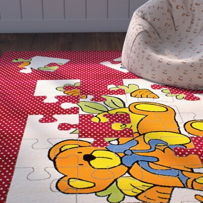Luann Red Area Rug