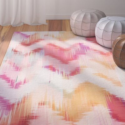 Janiyah Ikat Pink Area Rug Rug Size: Rectangle 51 x 76