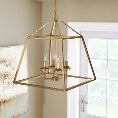 Jeanbaptiste 4-Light Foyer Pendant Finish: Warm Brass