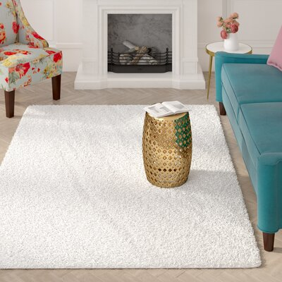 Roberto White Area Rug Rug Size: Rectangle 67 x 96
