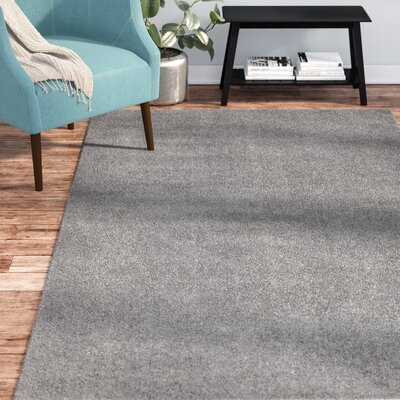 Virgil Solid Shag Dark Gray Area Rug Rug Size: Rectangle 8' x 10'