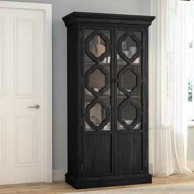 Virgouda Lighted China Cabinet Color: Ebonized Acacia