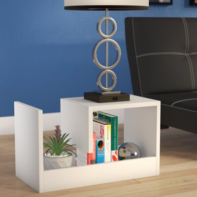 Natalee End Table Color: White